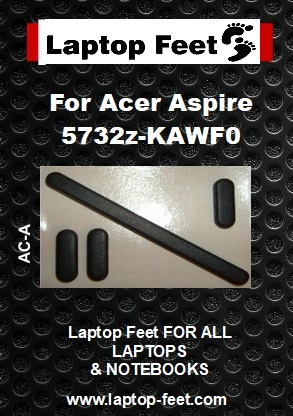 Laptop feet for ACER ASPIRE 5732Z-KAWF0  Compatible kit  (4 pcs self adh.)