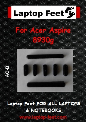 Laptop feet for ACER Aspire 8930G  compatible kit (7 pieces self adhesive)