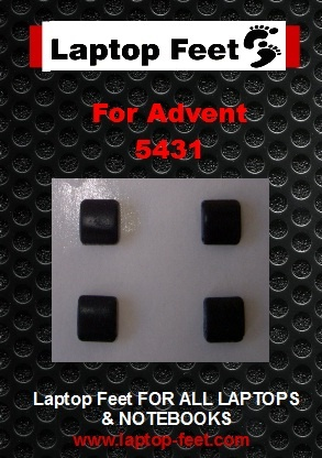Laptop Feet for ADVENT 5431 / 5611 / 5712 compatible kit (4 pcs self adhesive)