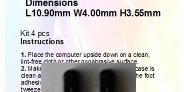 Laptop Feet for Acer Aspire Dimensions L10.90mm W4.00mm H3.50mm compatible kit ( 2pcs self adhesive)