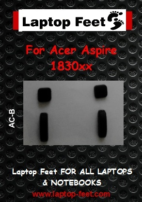 Laptop feet for ACER ASPIRE 1830T-MS2296 Compatible kit  (4 pcs self adh.)