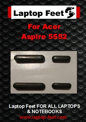 Laptop feet for ACER Aspire 5552 kit compatible  (4 pcs self adh.)