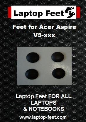 Laptop feet for ACER Aspire V5-551/552 kit compatible  (5 pcs self adh.)