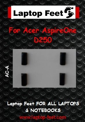 Laptop feet for Acer AspireOne D250 kit compatible  (4 pcs self adhesive 3M)