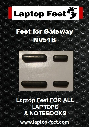 Laptop Feet for Gateway NV51B kit compatible (4 pcs self adhesive)