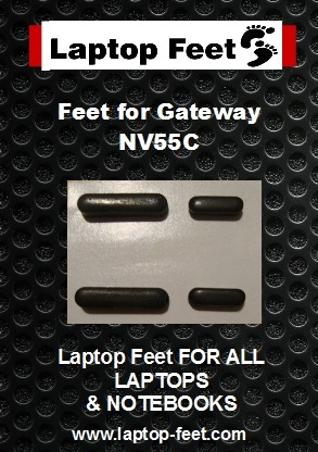 Laptop Feet for Gateway NV55C kit compatible (4 pcs self adhesive)