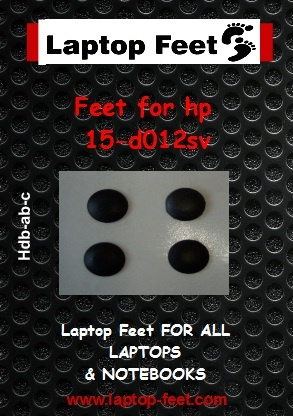 Laptop Feet For HP 15-d012sv compatible kit (4 pcs self adhesive)