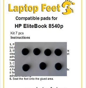 Laptop feet for HP Elitebook 8540p compatible kit (7 pcs self adhesive)