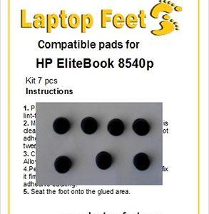 Laptop feet for HP Elitebook 8540w compatible kit (7 pcs self adhesive)