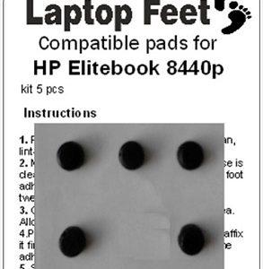 Laptop feet for HP Elitebook 8440p compatible kit (5 pcs self adhesive)