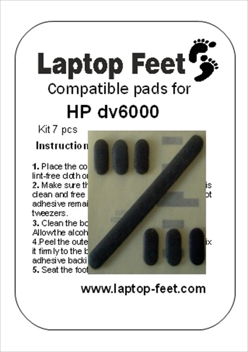 Laptop Feet for HP DV6000 compatible kit (7 pcs)