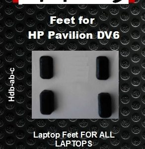 Laptop feet for HP DV6 compatible kit (4 pcs self adhesive)