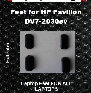 Laptop feet for HP Pavillion DV7-2030ev compatible kit (4pcs self adhesive)