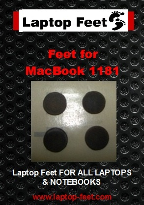 Laptop feet for MacBook A1181 compatible kit (4 pcs self adhesive)