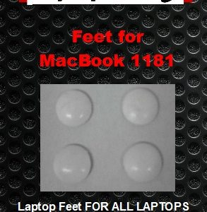 Laptop feet for MacBook A1181 white compatible kit (4 pcs self adhesive)