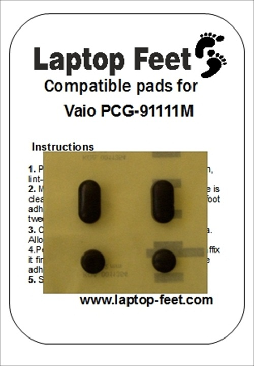 Laptop feet for Vaio PCG-9111M VPCEC4M1E compatible kit (4 pcs self adhesive)