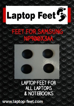 Laptop Feet for Samsung NP900X3AA  kit compatible (4 pcs self adhesive)