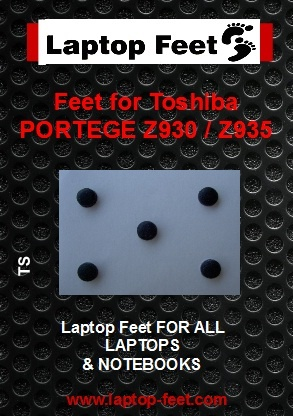 Laptop Feet for Toshiba PORTEGE Z930, Z935 compatible kit ( 5 pcs self adhesive)
