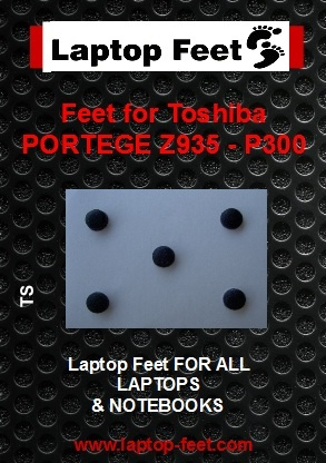 Laptop Feet for Toshiba Portege Z935-P300 compatible kit ( 5 pcs self adhesive 3m)