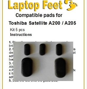Laptop Feet for Toshiba Satellite A200 / A205 compatible kit (5 pcs self adhesive)