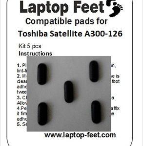 Laptop feet for Toshiba Satelite A300D-126 compatible kit (5 pcs self adhesive)