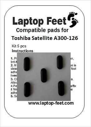 Laptop feet for Toshiba Satelite A300D-126 compatible kit (5 pcs self adhesive)