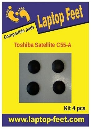 Laptop Feet for Toshiba Satellite C55-A compatible kit (4 pcs self adhesive)