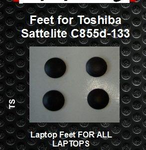 Laptop Feet for Toshiba Satellite C855d-133 compatible kit ( 4pcs self adhesive 3M)