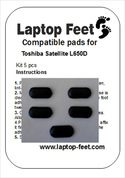 Laptop feet for Toshiba Satelite L650 D compatible kit (5 pcs self adhesive)