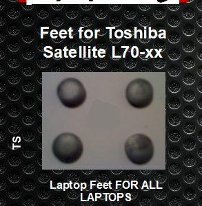 Laptop Feet for Toshiba Satellite L70 -xx compatible kit ( 4 pcs self adhesive 3m)