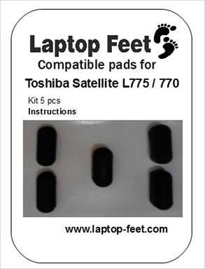 Laptop feet for Toshiba Satelite L775 / L770 compatible kit (5 pcs self adhesive)