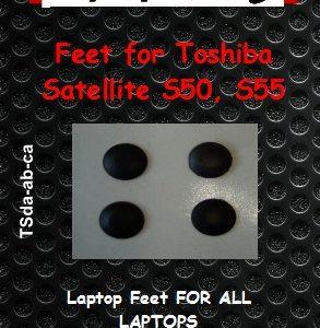 Laptop Feet for Toshiba Satellite S50, S55 compatible kit ( 4 pcs self adhesive)