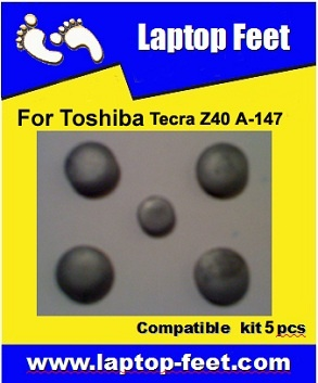 Laptop Feet for Toshiba Tecra Z40 A-147 compatible kit ( 5 pcs self adhesive 3m)