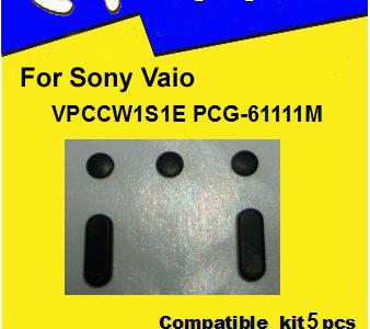 Laptop feet for Vaio VPCCW1S1E PCG-61111M compatible kit (5 pcs self adhesive)
