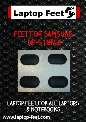 Laptop feet  for SAMSUNG NP-510R5E kit compatible (4 pcs self adhesive)