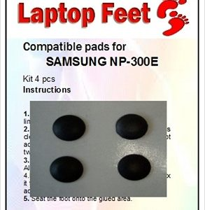 Laptop feet for SAMSUNG 300E compatible kit (4 pcs self adhesive)