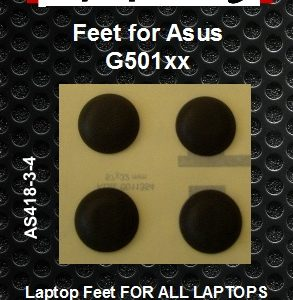 Laptop feet for Asus G501xx compatible kit (4  pcs self adhesive)