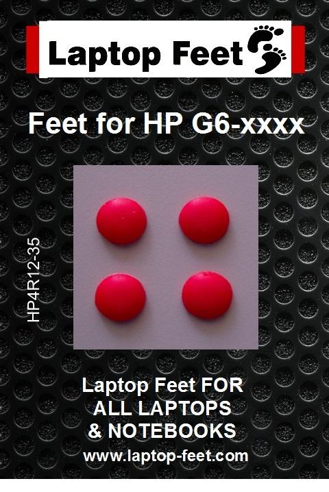 Laptop Feet for HP Compaq Pavilion G6-xxxx red Compatible Kit (4 Pcs Self Adhesive 3M) (Copy)