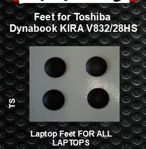 Laptop Rubber feet compatible for Toshiba Dynabook KIRA V832/28HS Black (4 pcs self adhesive)