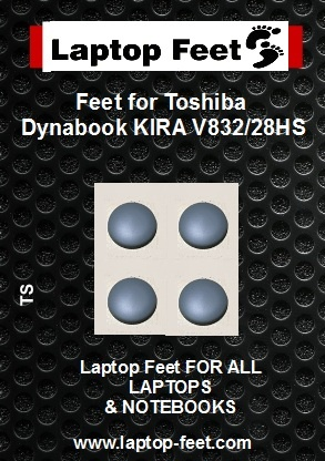 Laptop Rubber feet compatible for Toshiba Dynabook KIRA V832/28HS Gray (4 pcs self adhesive)