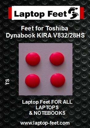 Laptop Rubber feet compatible for Toshiba Dynabook KIRA V832/28HS Red (4 pcs self adhesive) (Copy)