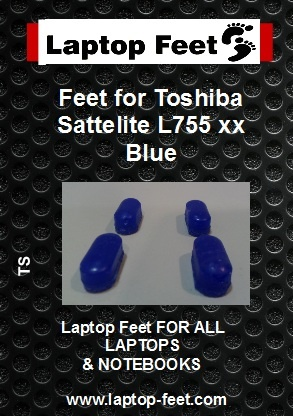 Laptop feet for Toshiba Satelite L755-xxx Blue compatible kit (4 pcs self adhesive) (Copy)