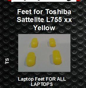 Laptop feet for Toshiba Satelite L755-xxx Yellow compatible kit (4 pcs self adhesive) (Copy)