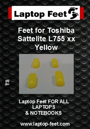 Laptop feet for Toshiba Satelite L755-xxx Yellow compatible kit (4 pcs self adhesive) (Copy)