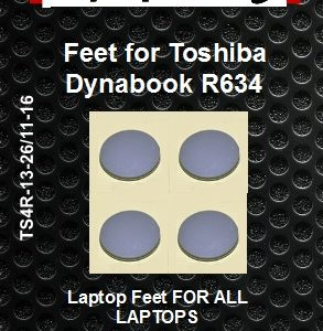 Laptop Feet for Toshiba Dynabook R634 compatible kit ( 4 pcs self adhesive 3m)