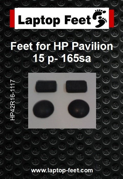 Laptop feet for HP Pavilion 15 p- 165sa compatible kit (4 pcs self adh by 3M)