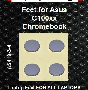 Laptop feet for Asus C100xx Chromebook compatible kit (4  pcs self adhesive)